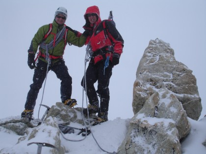David Tucker and Chris Alltree,Mt Blanc de Cheilon