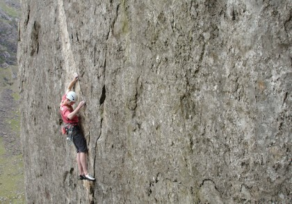 Doug Hamilton on Left Wall, Dinas Cromlech