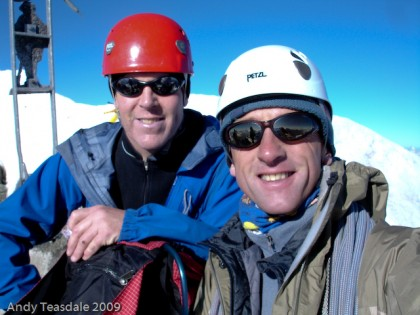 Mark Rogers and I on the Dent Blanche