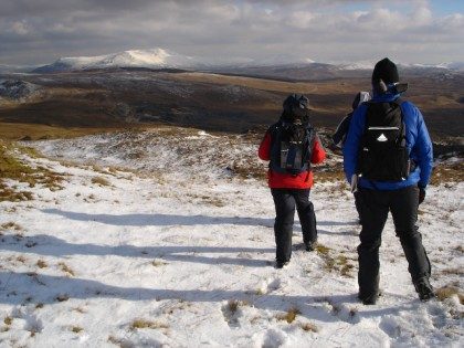 Winter walking in Snowdonia
