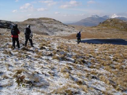 Winter walking in Snowdonia